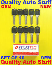 OEM Set Of 10 10X 1995 - 1999 GM Non-Transponder Key Blanks Strattec # 596222