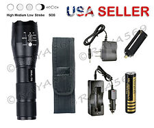 X800 G700  Ultra Fire Flashlight Led Tactical Zoom Super Bright ShadowHawk