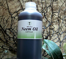 PURE NEEM OIL UNREFINED ORGANIC COLD PRESSED VIRGIN PLANTS,SKIN, SOAP SAFE 8 OZ.