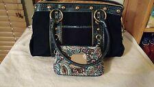 Kathy VanZeeland Navy Handbag