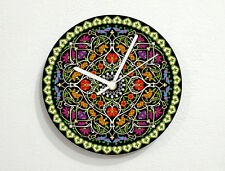 Floral Mandala Pattern - Kaleidoscope Design - Wall Clock