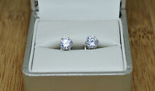 Lovely Unisex 10k/10ct White Gold Filled Cubic Zirconia 6mm Stud Earrings