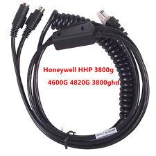 Honeywell IT3800 4600g 4800dr escáner de código de barras PS2 Cable en espiral de cuña de teclado