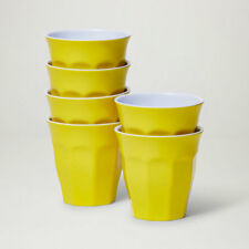 Barel Designs Classic Yellow Melamine Tumblers 260mL - Set of 6 Picnic Cups