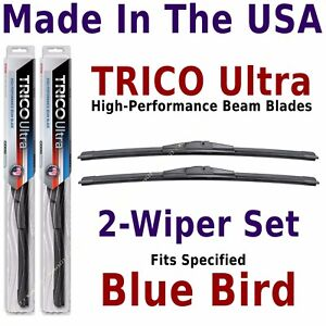 Buy American: TRICO Ultra 2-Wiper Blade Set: fits listed Blue Bird Bus: 13-18-18