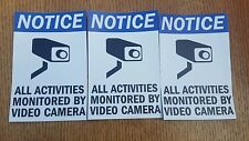 VIDEO SURVEILLANCE CCTV Security Decal  Warning Sticker (4x6in)set of 3