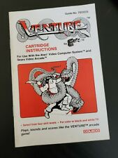 Vintage Venture Coleco  Manual Instructions Booklet ONLY