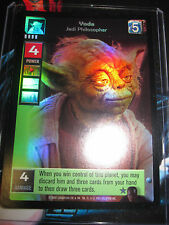 SWCCGYJ CCG YOUNG JEDI REFLECTIONS FOIL MINT SUPER RARE 7 YODA JEDI PHILOSOPHER