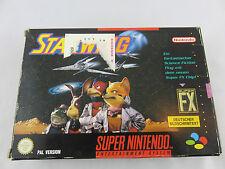 Super Nintendo Spiel Starwing Star Fox FX in OVP und Anleitung RARE