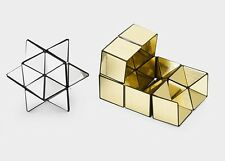 Brand NEW Yoshimoto CUBE No.1 Puzzle Gold & Siver Japan MoMA Tron F/S