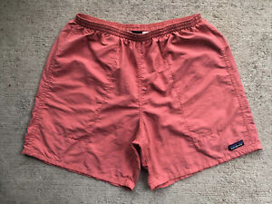 "Patagonia Men's Baggies Shorts 7"" Large Spiced Coral Salmon Mesh Liner 58033"