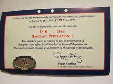 "AMERICAN AIRLINES...RARE.THREE DIAMONDS.""DFW TEAM 1998"" BEST PERFORMANCE PIN"