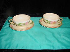 FRANCISCAN DESERT ROSE 2 CUPS AND SAUCERS.  MADE IN U.S.A.