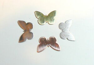 2 x Butterfly blanks jewellery making. Copper Brass Aluminium Silver. All sizes.