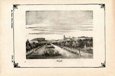 Stampa antica FOGGIA veduta panoramica Puglia 1871 Old print