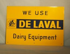 Delaval Dairy Equipment Tin Sign - New Old Stock