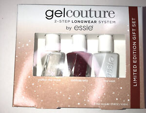 Essie Gel Couture - 2 Step Longwear Nail Lacquer Polish 3 Piece Set 4.4mL
