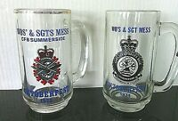Royal Canadian Air Forces 2 x Beer Mugs Oktoberfest Glasses Tankards Mess Glass