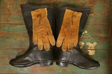 Antique Rubber Child's Rain Boots + Leather Gloves (Provenance of Ownership)