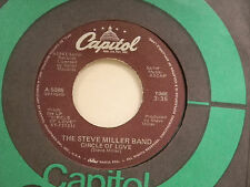 Steve Miller Band 45 CIRCLE OF LOVE / inst.version ~ VG+ to VG++