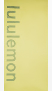 NEW lululemon The Towel Wordmark Logo Lemon Vibe/Vista Green Yoga Mat Towel NWT