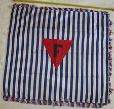 Drapeau Fanion Résistance Déportation F France ancien FFL 1945 ORIGINAL Flag