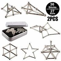 63Pcs Magnetic Building Blocks Magnet Construction Kit Kids Puzzle Toy