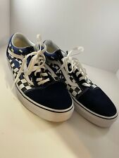 Vans Old Skool Checker Flame Navy True White Size US 13 Men's  VN0A38G1RX6 New