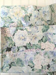 Eileen West Delphinium Full Flat Fitted Case Stevens Cotton Blend Floral Vtg
