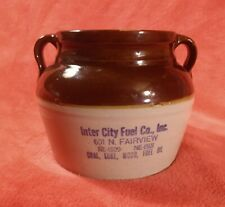 Red Wing Advertising Bean Pot Inter City Fuel Co., Inc. N. Fairview NE Coal,Coke