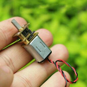Micro Mini N20 Gear Motor DC 3V-6V Slow Speed Full Metal Gearbox Reducer DIY Toy