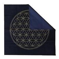 Altar Tarot Card Cloth, Washable Tablecloth, Triple The Flower of Life Crystal