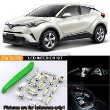 10Pcs White Interior LED Light Package Kit For 2018 Toyota C-HR CHR + Tool