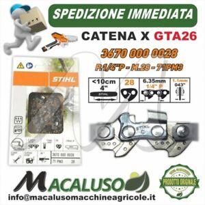 Catena Stihl GTA26 Passo 1/4 sp.1,1 maglie 28 Potatore GTA 26 36700000028