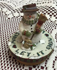 Lang Candle Topper Snowman Winter Scene
