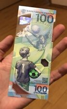 100 rubles 2018 FIFA Cup 5 pcs banknot UNC in stock