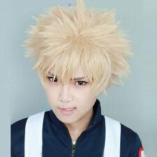 Anime My Hero Academia Bakugou Katsuki Layered Halloween Cosplay Kurzhaar + Cap
