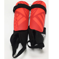 BRAND NEW ADIDAS GHOST CLUB SOCCER SHIN GUARD RED / BLACK/ SALMON+ FREE SHIPPING