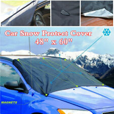 "Universal 48""x60"" Magnet Snow Cover Tarp Flap For Car Front Windshield Glass"