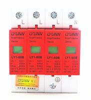 4P 30KA~60KA Din Rail Surge Protection Device SPD Lightning Arrester Protection