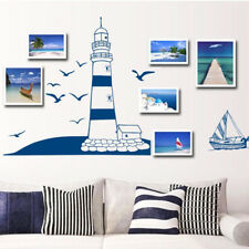 Nautical Sea Sailboats Wall Sticker Ocean Scrapbook Home Decor Decal Mural New