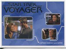 Star Trek Voyager H&V Relationships Chase Card R24 Captain Janeway and Jaffen