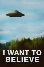 The X-Files I Want To Believe TV Plastic Sign Plastic Sign - 12x18