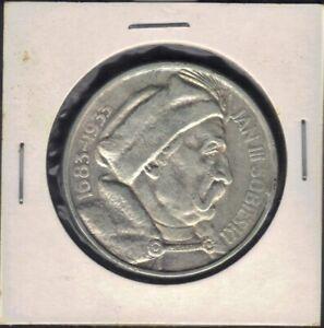 1933 POLAND 10 ZLOTYCH JAN SOBIESKI VICTORY 750 SILVER COIN KM # 23