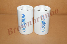 SANYO ENELOOP Spacers Adapters AA to D Size Battery 2 Pcs NEW