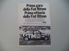 advertising Pubblicità 1978 FIAT RITMO ABARTH 150 CV