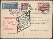 DOX 1931 FLIGHT COVER GERMANY TO USA POSTAL CARD BR772