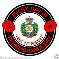 Royal Engineers Remembrance Day Inside Car Window Clear Cling Sticker