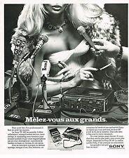 PUBLICITE ADVERTISING 054 1975 SONY TC142 enregistreur avec RTL RMC EUROPE110514