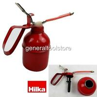 HILKA OIL CAN 500CC CAPACITY STEEL CAN FLEXIBLE SPOUT